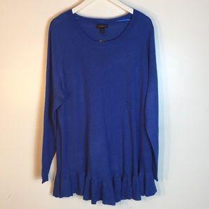 Lane Bryant women blue tunic size 22